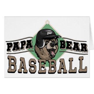 Béisbol del oso de la papá por los estudios de tarjeta de felicitación