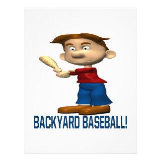 Béisbol del patio trasero tarjeton