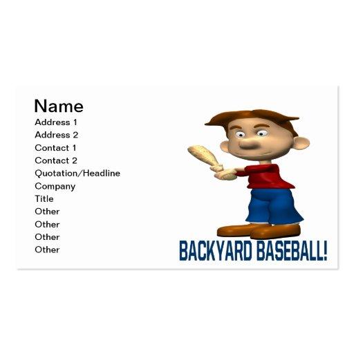 Béisbol del patio trasero tarjetas de visita