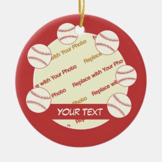 Béisbol del PERSONALIZAR -- Personalice la foto y  Ornaments Para Arbol De Navidad