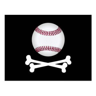 Béisbol del pirata postales