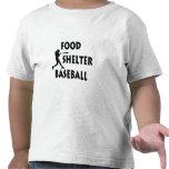 Béisbol del refugio de la comida camiseta