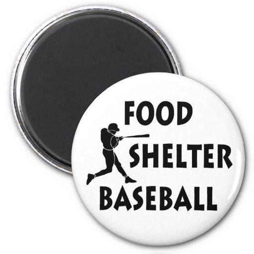 Béisbol del refugio de la comida iman