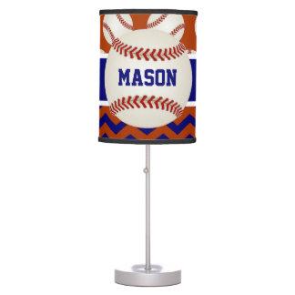 Béisbol del rojo azul personalizado lámpara de mesa