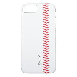 Béisbol del tema del deporte que cose nombre de funda iPhone 7