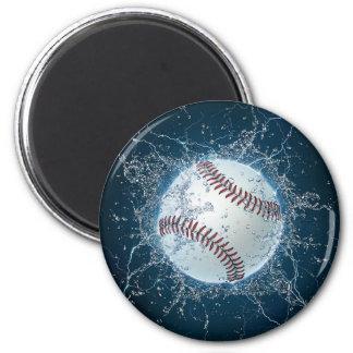 Béisbol del trueno imán redondo 5 cm