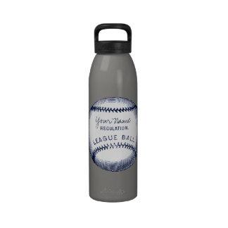 Béisbol del vintage, bola personalizada botellas de beber