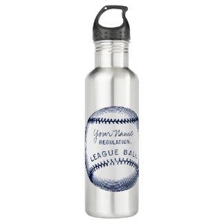 Béisbol del vintage, bola personalizada botella de agua de acero inoxidable