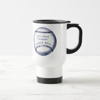 Béisbol del vintage, bola personalizada taza térmica