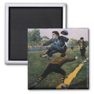 Béisbol del vintage, cubierta de semanario imán cuadrado