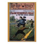 Béisbol del vintage, cubierta de semanario invitacion personal