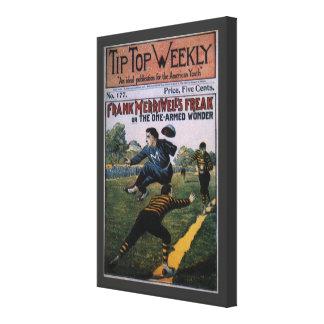 Béisbol del vintage, cubierta de semanario lona estirada galerías