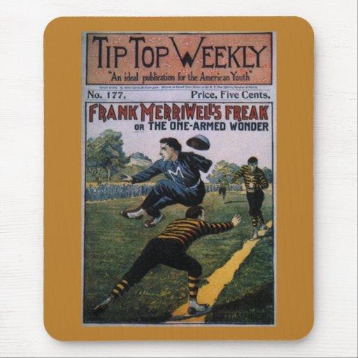 Béisbol del vintage, cubierta de semanario mouse pads