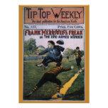 Béisbol del vintage, cubierta de semanario superio invitacion personal