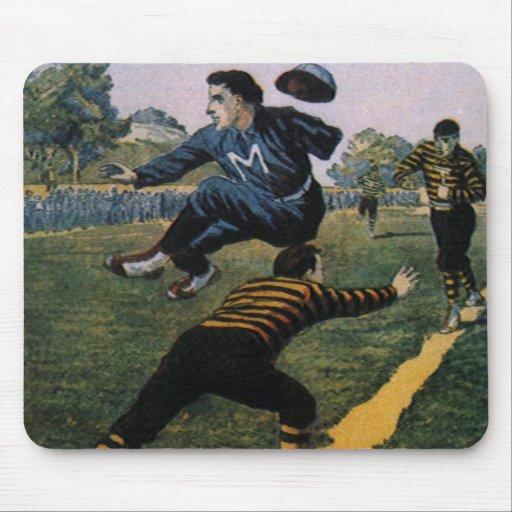 Béisbol del vintage, cubierta de semanario superio tapetes de raton
