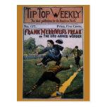 Béisbol del vintage, cubierta de semanario superio postal