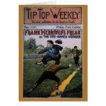 Béisbol del vintage, cubierta de semanario tarjetón