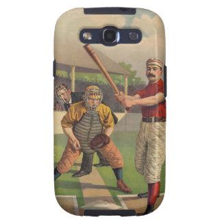 Béisbol del vintage galaxy SIII carcasa