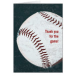 Béisbol del vintage - gracias por la tarjeta de ju