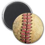 Béisbol del vintage imán de frigorifico