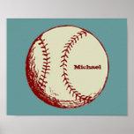 Béisbol del vintage impresiones