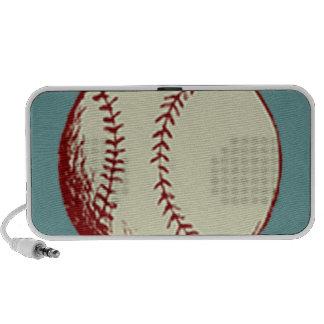 Béisbol del vintage iPod altavoces