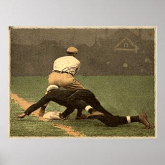 Béisbol del vintage poster