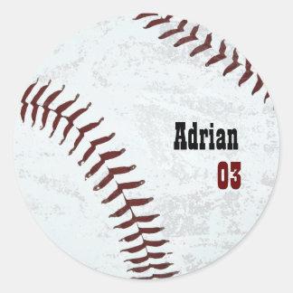 béisbol del vintage pegatina redonda