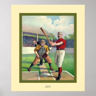 Béisbol del vintage póster