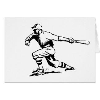 Béisbol del vintage felicitacion
