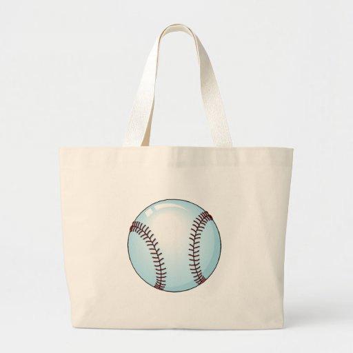 Béisbol detallado bolsa tela grande