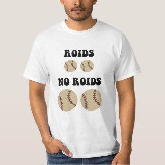Béisbol divertido de los esteroides playeras