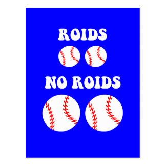 Béisbol divertido de los esteroides postales
