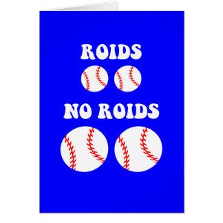 Béisbol divertido de los esteroides felicitacion