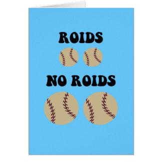 Béisbol divertido de los esteroides tarjetón