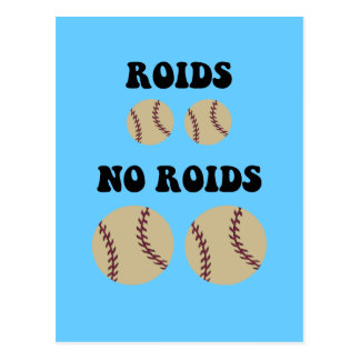 Béisbol divertido de los esteroides postal