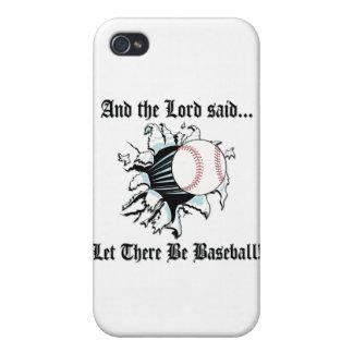 Béisbol divertido iPhone 4 fundas