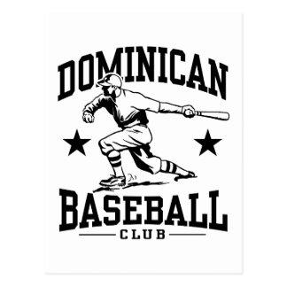 Béisbol dominicano tarjeta postal