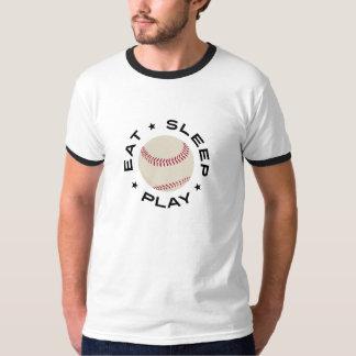 Béisbol - Eat Sleep Play Playera