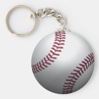 Béisbol - efecto 3D Llavero Redondo Tipo Pin