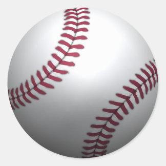 Béisbol - efecto 3D Pegatina Redonda