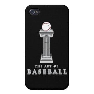 béisbol en arte del pedestal iPhone 4 carcasa