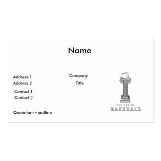 béisbol en arte del pedestal tarjetas de visita