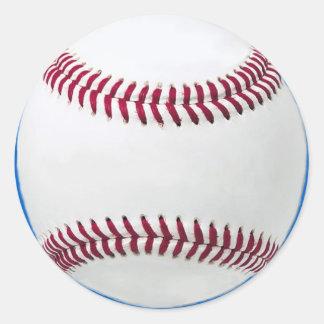 Béisbol en azul pegatina redonda