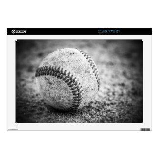 Béisbol en blanco y negro 43,2cm portátil calcomanías