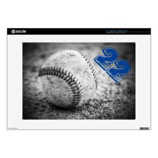 Béisbol en blanco y negro calcomanía para 38,1cm portátil