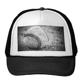 Béisbol en blanco y negro gorra