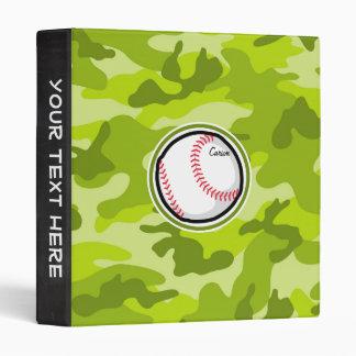 Béisbol en Camo verde, camuflaje