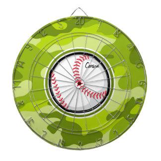 Béisbol en Camo verde camuflaje Tablero Dardos