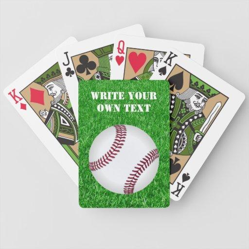 Béisbol en césped - escriba su propio texto baraja
